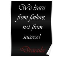 We Learn From Failure Poster
