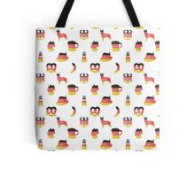 German Motifs in Hand-Painted Colors of German Flag Tote Bag