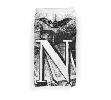 Renaissance Alphabet Letter N Duvet Cover