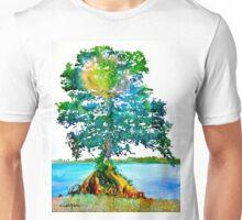 Cypress Tree by Daniel Adams Unisex T-Shirt