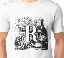 Renaissance Alphabet Letter R Unisex T-Shirt