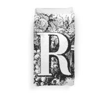 Renaissance Alphabet Letter R Duvet Cover