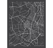 Bangkok Map, Thailand - Gray Photographic Print