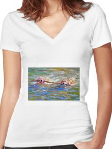 Stickin' Together by Daniel Adams Women's Fitted V-Neck T-Shirt