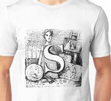 Renaissance Alphabet Letter S Unisex T-Shirt
