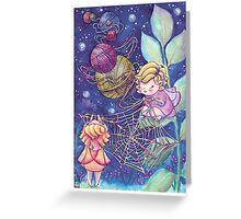 Rainbow Knitting Fairy Greeting Card