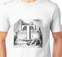 Renaissance Alphabet Letter T Unisex T-Shirt