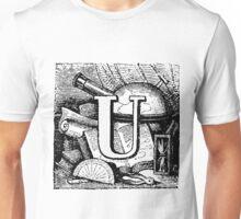 Renaissance Alphabet Letter U Unisex T-Shirt
