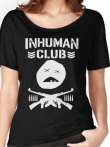 Inhuman Club Black Women's Relaxed Fit T-Shirt