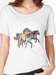 Multi Horses by Daniel Adams Women's Relaxed Fit T-Shirt