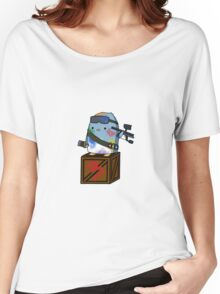 Paint Warrior Penguin Women's Relaxed Fit T-Shirt