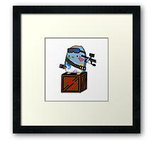 Paint Warrior Penguin Framed Print