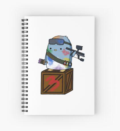 Paint Warrior Penguin Spiral Notebook