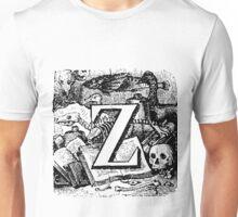 Renaissance Alphabet Letter Z Unisex T-Shirt