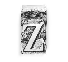 Renaissance Alphabet Letter Z Duvet Cover