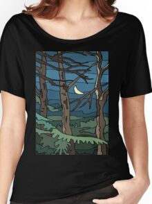 Abstract Tree Branch Night Scene Women's Relaxed Fit T-Shirt