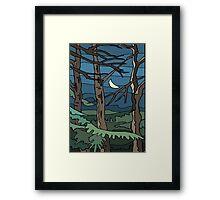 Abstract Tree Branch Night Scene Framed Print