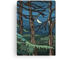 Abstract Tree Branch Night Scene Canvas Print