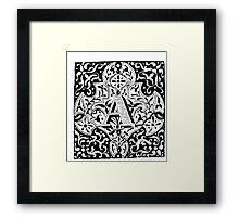 Small Cap Letter A Framed Print