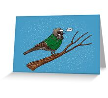 Annoyed IL Birds: The Sparrow Greeting Card