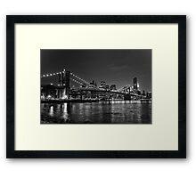 Brooklyn Bridge - Black & White Framed Print