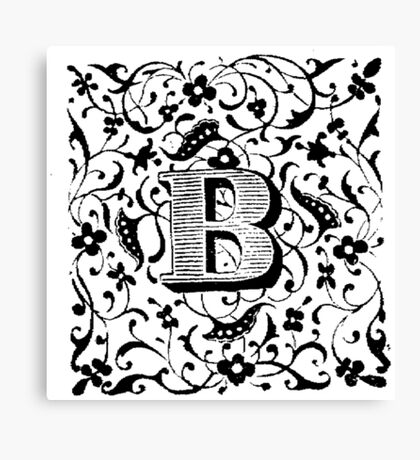 Small Cap Letter B Canvas Print