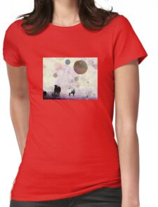 Not There-- color reversed Womens Fitted T-Shirt