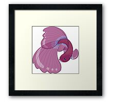 Purple, Gold and Blue Betta Fighting Fish  Framed Print
