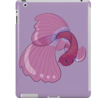 Purple, Gold and Blue Betta Fighting Fish  iPad Case/Skin