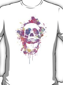Cool & Trendy Pink Watercolor Skull T-Shirt