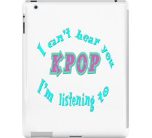Listening to K-pop iPad Case/Skin