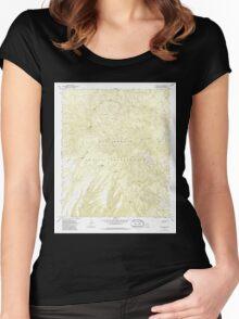 USGS TOPO Map Arizona AZ Willow Mtn 314129 1967 24000 Women's Fitted Scoop T-Shirt