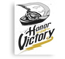 helm honor and victory Canvas Print