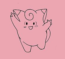 Clefairy Sketch by fantasylace
