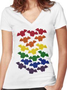 BatLoaf- Gay Pride Women's Fitted V-Neck T-Shirt