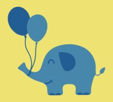 Sweet Funny Baby Elephant with Balloons Kids Clothes