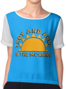 Community - Troy and Abed in the morning Chiffon Top