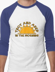 Community - Troy and Abed in the morning Men's Baseball ¾ T-Shirt