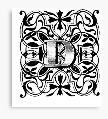 Small Cap Letter D Canvas Print