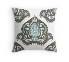 Beautiful Vintage seamless pattern. Ornament. Unusual. Indian motif. For your design Throw Pillow
