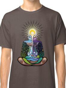 Psychedelic meditating Nature-man Classic T-Shirt