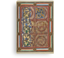 Decorated Incipit Page - Opening of Saint John's Gospel (1120 - 1140 AD) Canvas Print