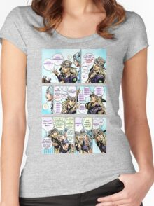 JoJo's Bizzare Adventure Cheese Song Women's Fitted Scoop T-Shirt