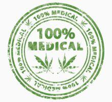 100% Medical Marijuana Stamp Baby Tee