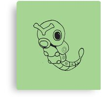 Caterpie Sketch Canvas Print
