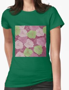 Vector floral pattern in doodle style with flowers. Gentle, spring Womens Fitted T-Shirt