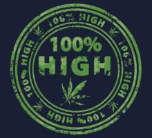 100% High Marijuana Stamp Baby Tee