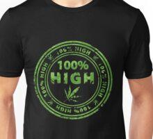100% High Marijuana Stamp Unisex T-Shirt