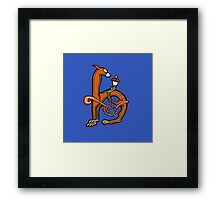 Medieval Squirrel Letter H Framed Print