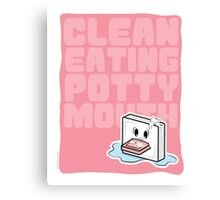 Clean Eating Potty Mouth Canvas Print
